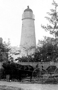 The Key West Lighthouse about 1865. Photo from the Monroe County Library Collection